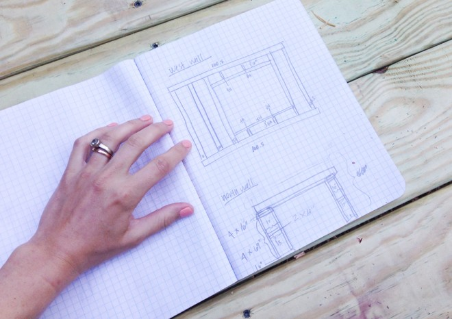 Planning the construction of walls for our playset.