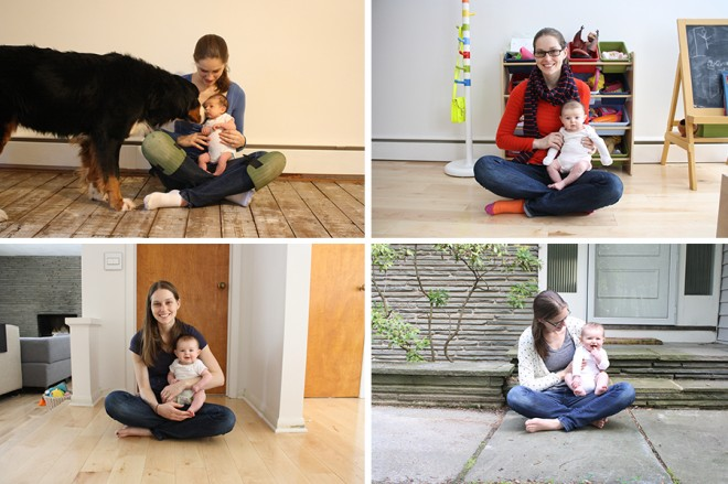 Our baby photo series, weekly photos with mama.