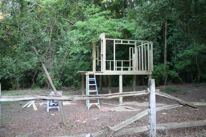 Walls and floor of our new treehouse.