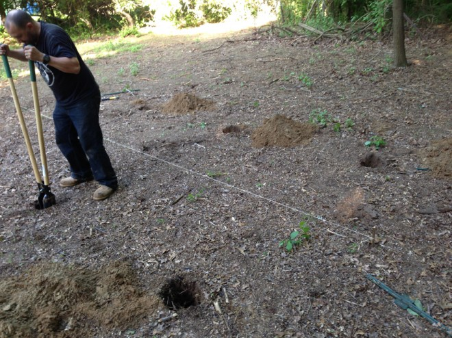 Easy post hole digging.