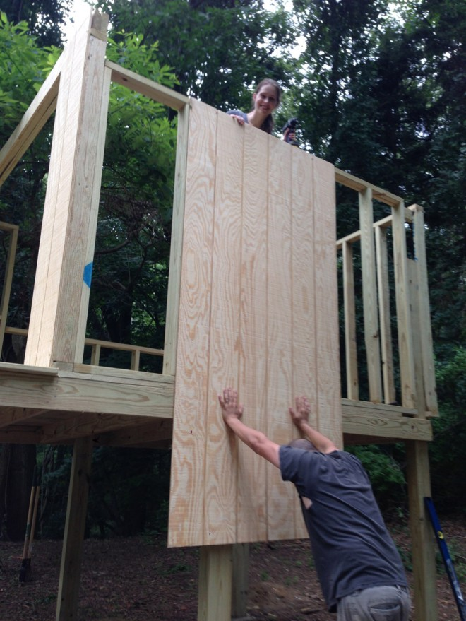 Installing t1-11 on our treehouse.