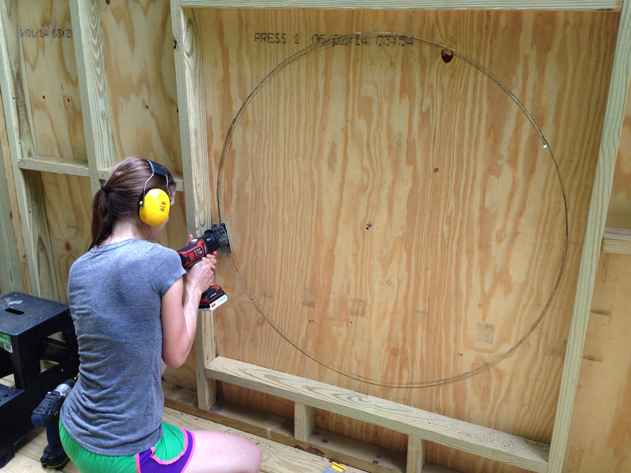 Installing T1 11 Walls For Our Modern Treehouse Merrypad