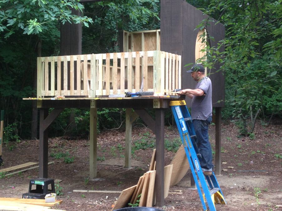 Building Our Modern Treehouse Slanted Roof Merrypad