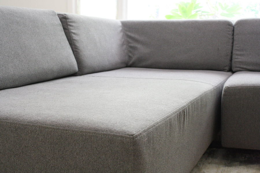 West Elm's Tillary Sectional Sofa in our house. Check out my review.