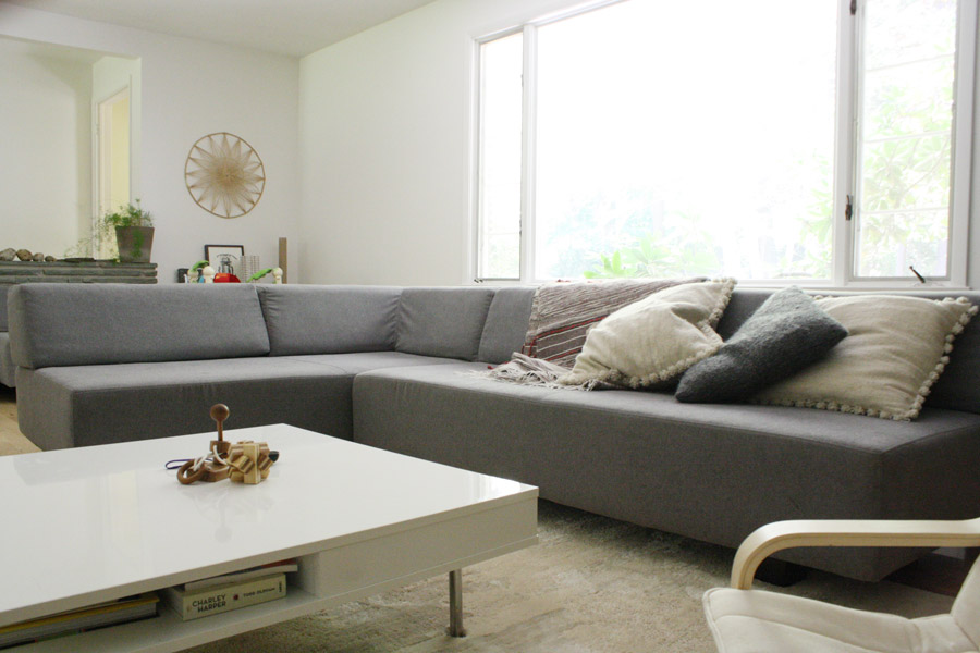 Delightful The West Elm Tillary Sectional Sofa In Our Modern Home   An Honest Review!