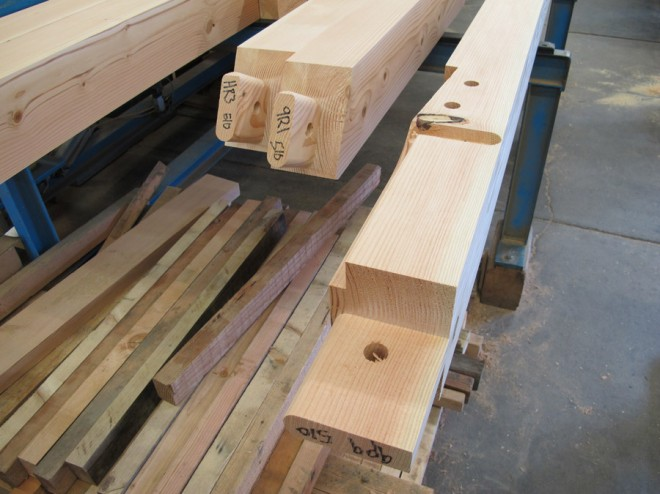 Mortise joinery at New Energy Works.