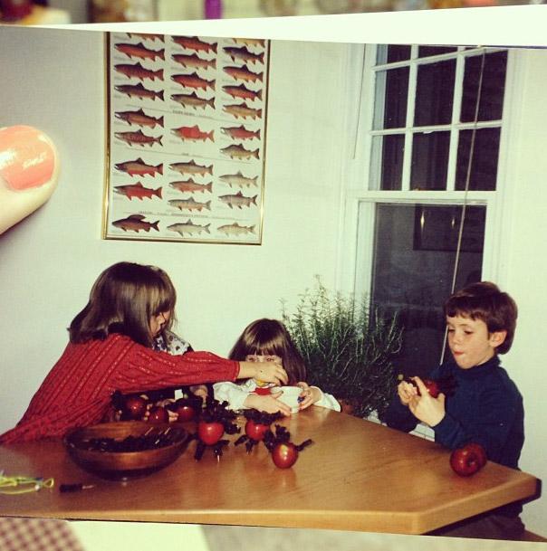 Our kitchen table, circa 1993.