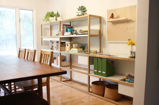 Adding Lap Shelving System to our dining room decor.