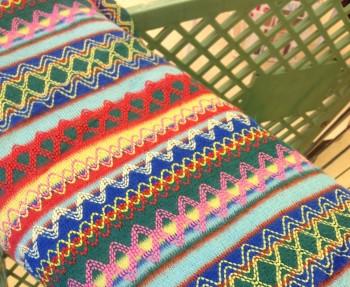 El cheap fabric that I loved from JoAnn Fabrics.