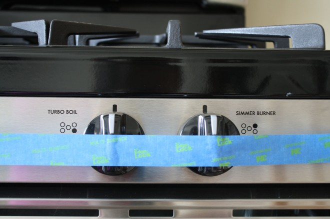 Kenmore Gas Range, baby proofing.