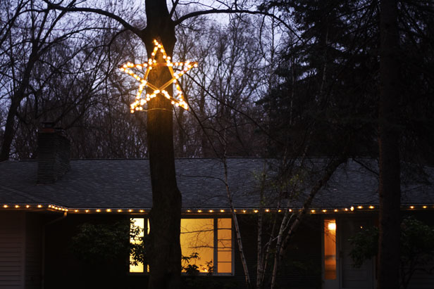 Outdoor star light DIY project.