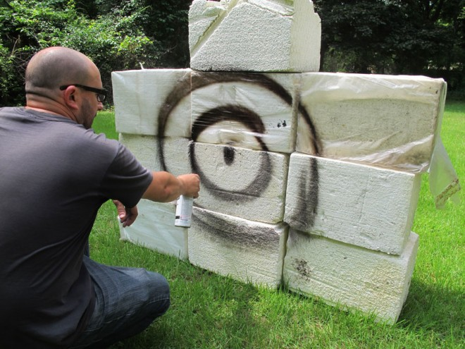 How to make a free DIY archery target.