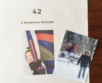 Marimekko catalog, personalized.