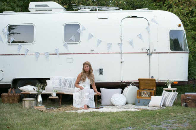 "Ruthie Collins and her amazing Airstream ""Amelia Earstream"""