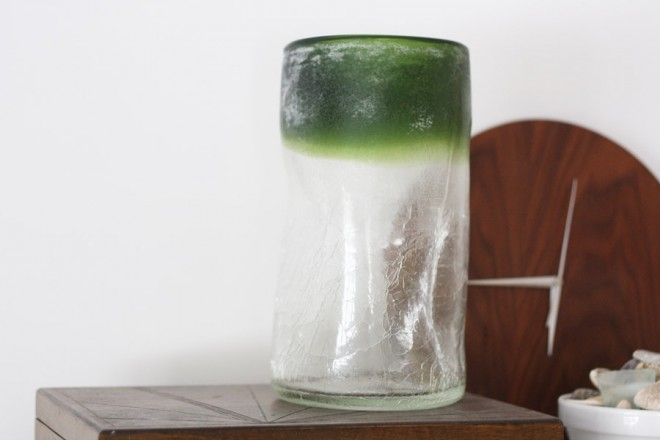 Big crackled glass vase from Anthropologie.