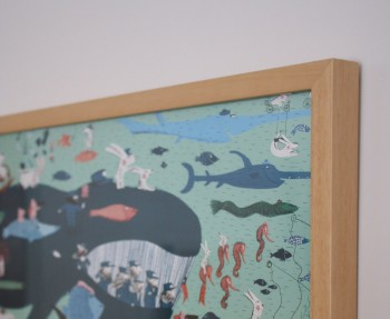 Wooden Bainbridge Frame with illustration by Magalie Le Huche for Djeco.
