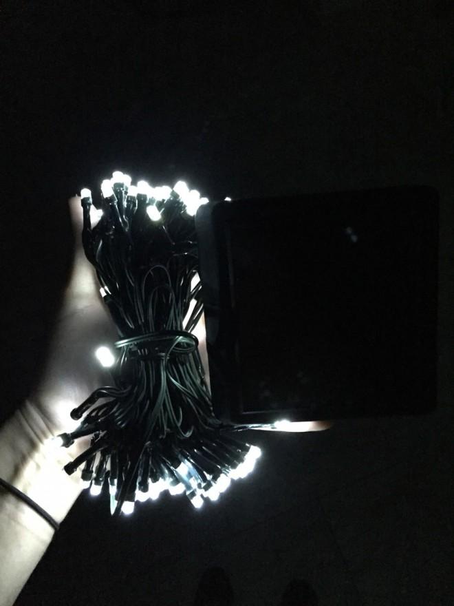 LED solar light strand.