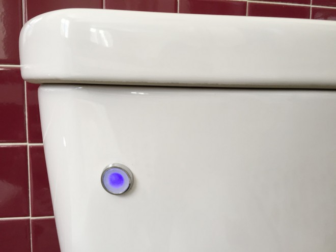 No touch flush sensor on Delta Toilet.