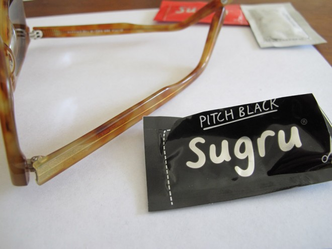 Sunglasses arm hack using Sugru.