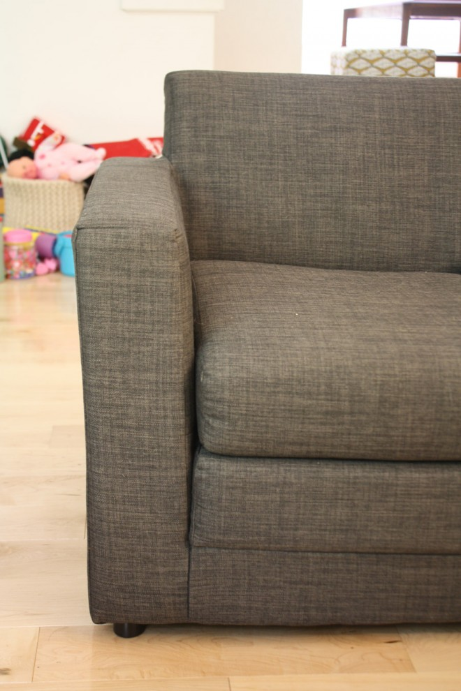 Adding the Anywhere Sofa from Urban Outfitters as a small, kid-friendly seating area in our living room.