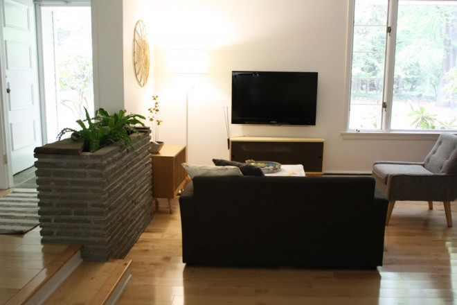 Living room, our secondary TV watching area.