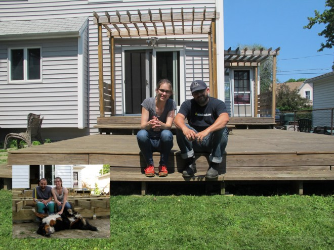 Building the deck vs. moving out. 2010 vs. 2015.