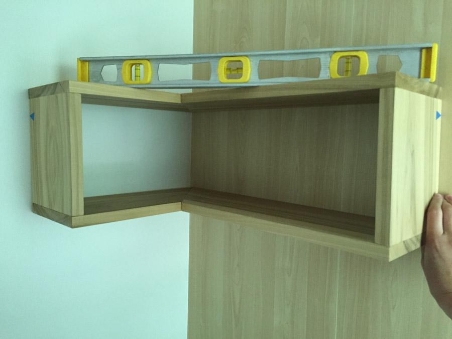 How to Make A Floating Corner Shelf   merrypad