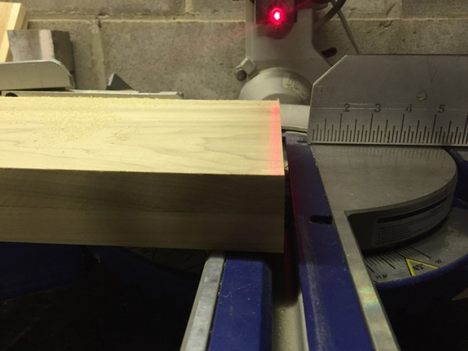 Trim the edges of the boards to make sure they are even lengths.