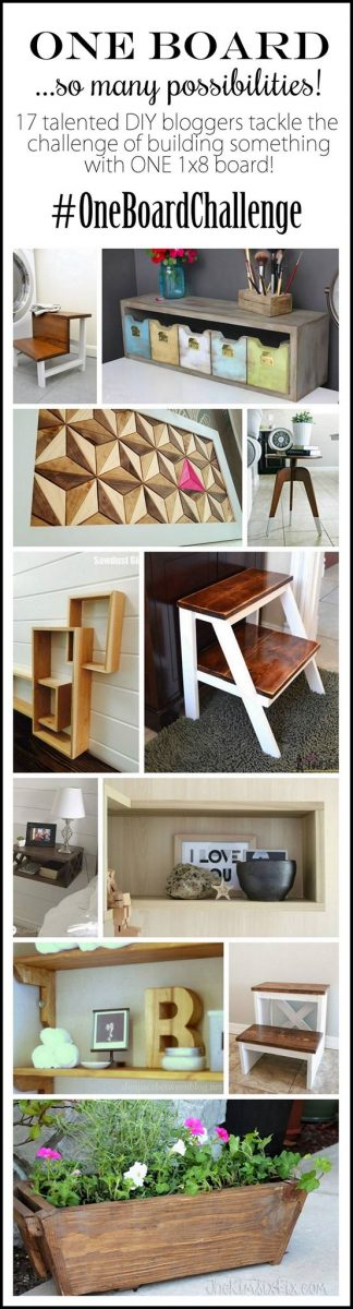DIY Projects made from a single wood 8' board. Get great inspiration and woodworking project ideas here!