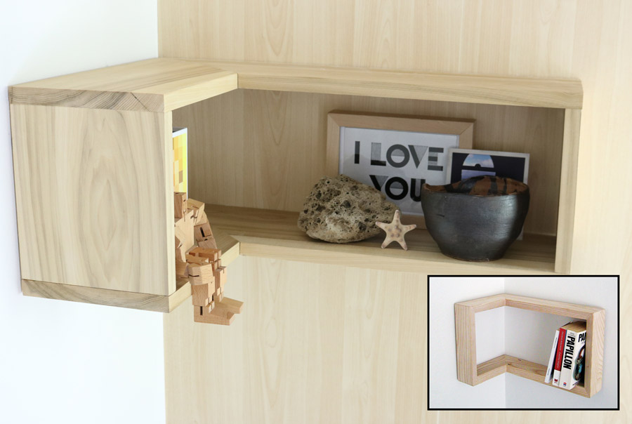 How To Make A Floating Corner Shelf Merrypad Fascinating How To Do Floating Shelves