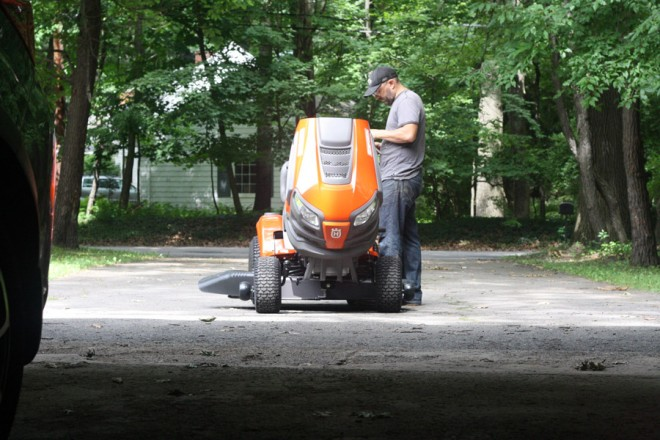 Our new Husqvarna riding mower, summer 2014.