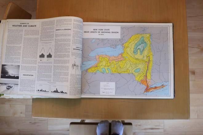 richards atlas New York; mean growing season.