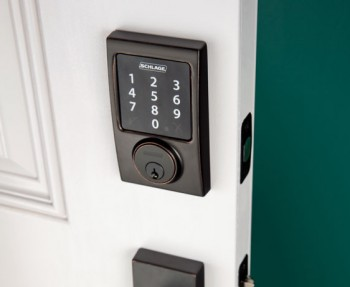 Schlage Connect lockset for a smart home.