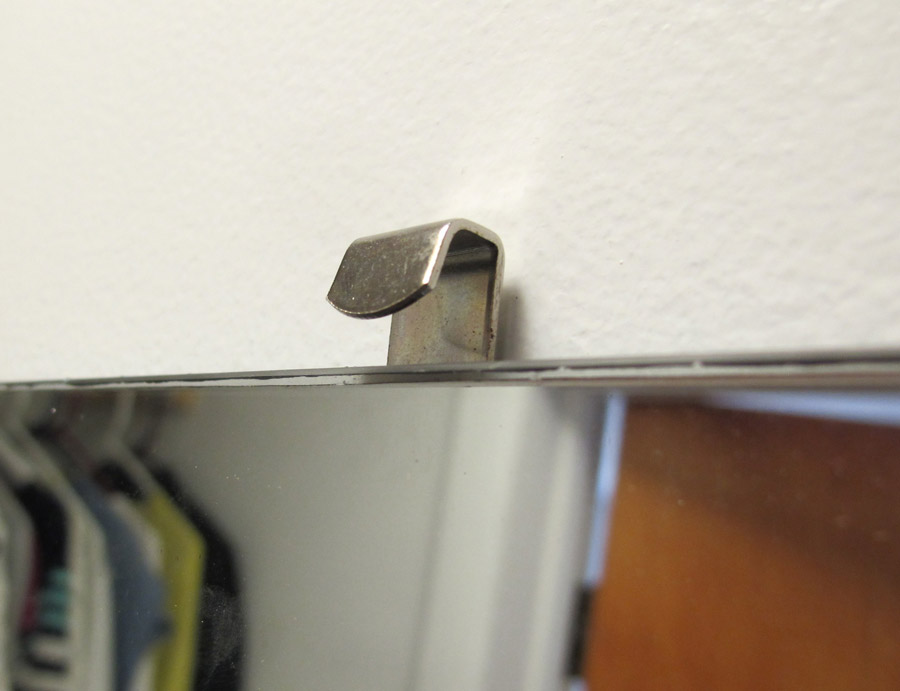 Drywall Mounting Clips : How i installed a really big mirror merrypad diy network