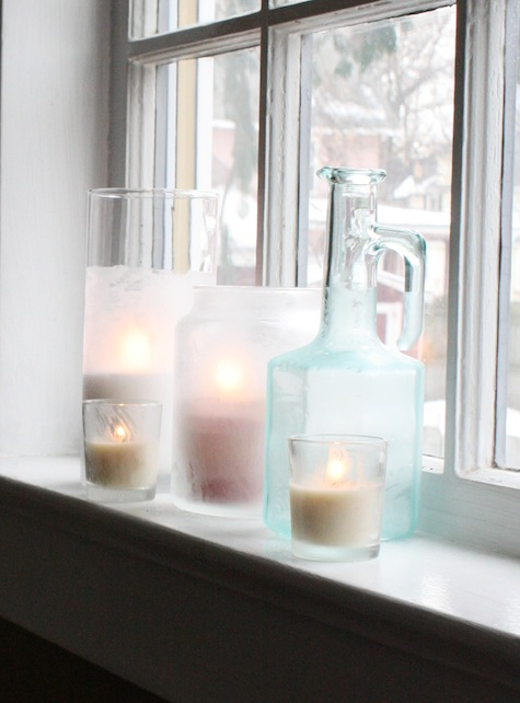 How to make etched glass decor for flowers or candles.