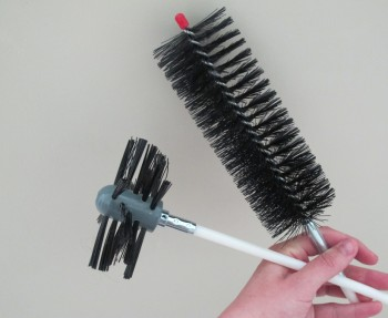 How to clean your dryer vent with an auger brush.