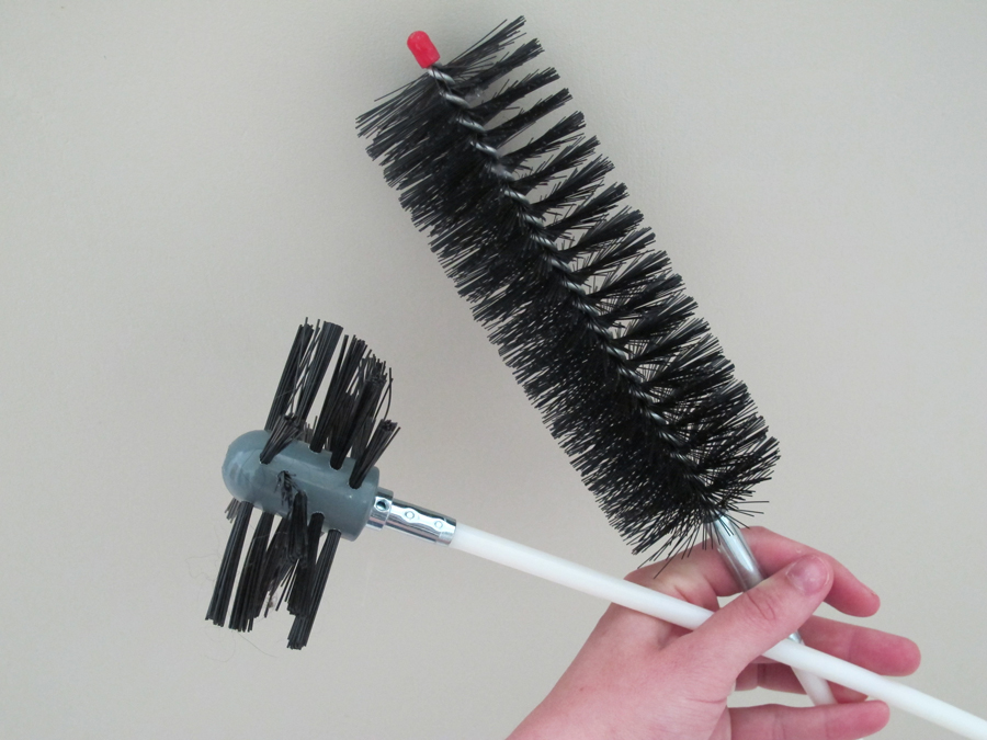 how to clean your dryer vent with an auger brush