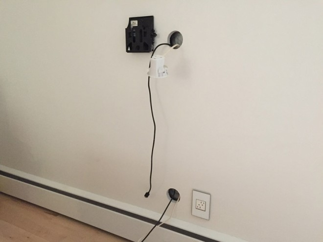 Run cords through the wall for a clean look to your wall mount TV.