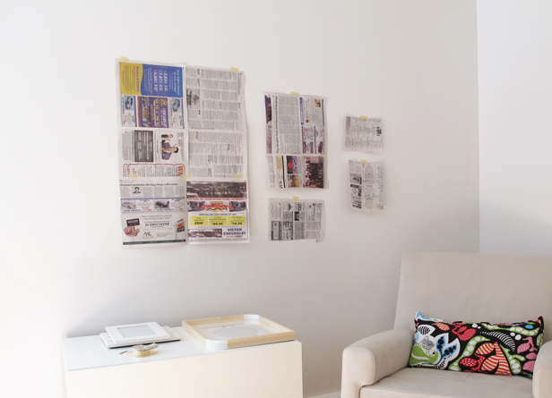 How to plan a gallery wall with templates.