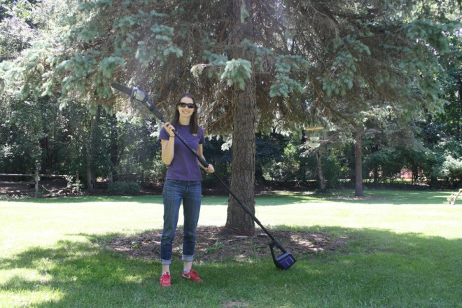 How to prune low hanging tree branches.