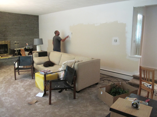 My husband Pete, an awesome DIYer and Maker. He painted our home.