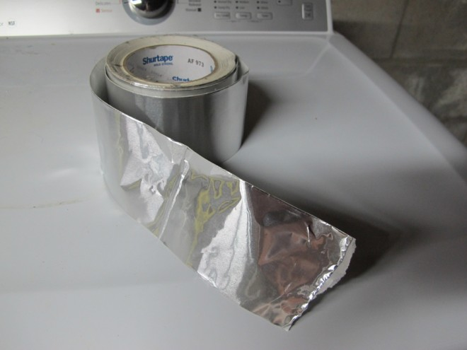 Attach all vent pipes to the dryer using metal duct tape.