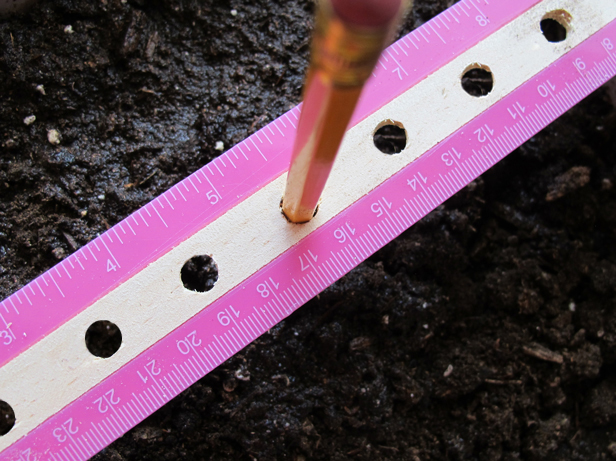 How to upcycle a ruler into an easy seed spacer.