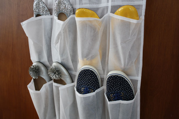 Upcycle a common shoe organizer into a cup holder.