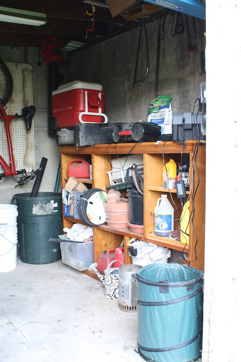 How to organize a shed to maximize wall, ceiling, and floor space.