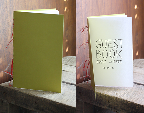 How to make a DIY guest book for your wedding.