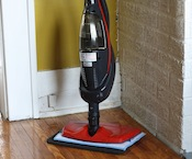 HAAN floor steamer to clean our hardwood floors.