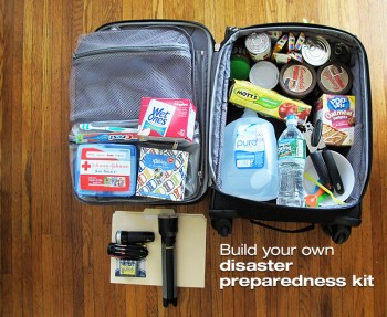 How to build a disaster preparedness kit.