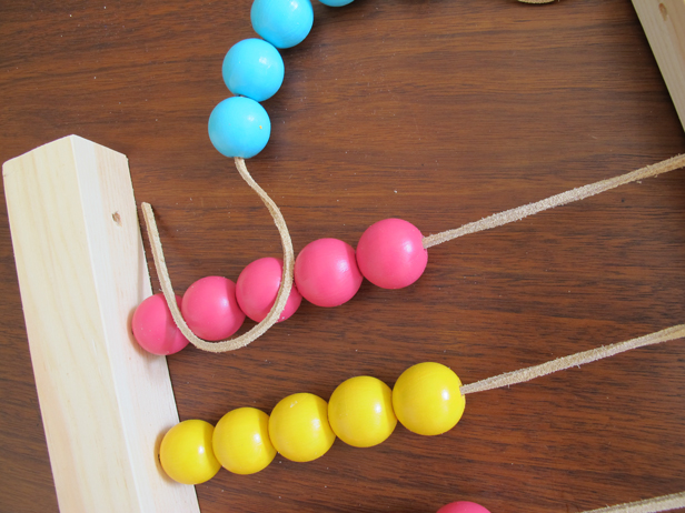 How to make a DIY abacus for your kids to play with.