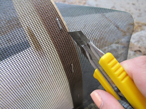 How to measure and cut materials for a DIY critter catcher for the kids.